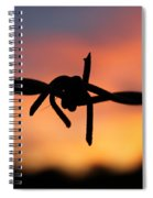 Barbed Silhouette Spiral Notebook
