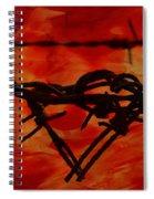 Barbed Wire Love Series  Rage Spiral Notebook