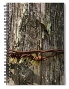 Barbed Wire Rustic Twist Spiral Notebook