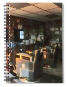 Barber - Barber Shop With Sun Streaming Through Window Spiral Notebook