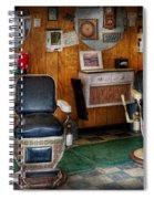 Barber - Frenchtown Nj - Two Old Barber Chairs  Spiral Notebook