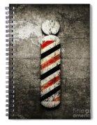Barber Pole Selective Color Spiral Notebook