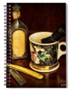 Barber - Shaving Mug And Toilet Water Spiral Notebook