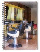 Barber - Small Town Barber Shop Spiral Notebook