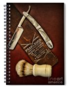 Barber - Tools For A Close Shave  Spiral Notebook