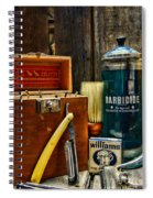 Barber - Vintage Barber Tools  Spiral Notebook