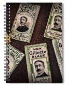 Barber - Vintage Gillette Razor Blades Spiral Notebook