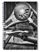 Barber - Vintage Hair Care In Black And White Spiral Notebook