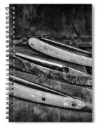 Barber - Vintage Razors In Black And White Spiral Notebook