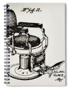Barbershop Chair Patent Spiral Notebook