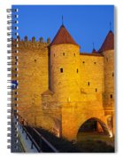 Barbican At Night In The Old Town Of Warsaw Spiral Notebook
