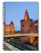 Barbican In The Old Town Of Warsaw Spiral Notebook