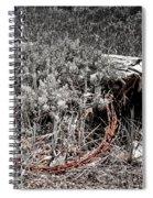 Barbwire Wreath 1 Spiral Notebook