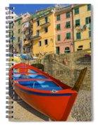 Barca Rossa A Rio Maggiore Spiral Notebook