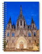 Barcelona Cathedral At Night Spiral Notebook