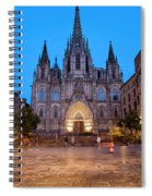 Barcelona Cathedral In The Evening Spiral Notebook