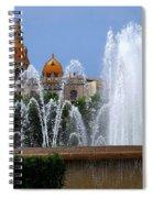 Barcelona Fountain Placa De Catalunya Spiral Notebook