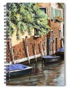 Barche A Venezia Spiral Notebook