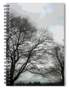 Bare Trees Winter Sky Spiral Notebook