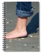 Barefoot On The Beach Spiral Notebook