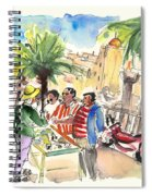 Bargaining Tourists In Siracusa Spiral Notebook