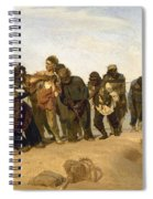 Barge Haulers On The Volga Spiral Notebook