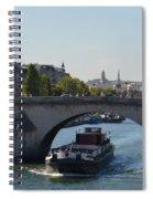 Barge On River Seine Spiral Notebook