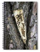 Bark Tattoo Spiral Notebook