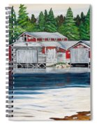 Barkhouse Boatshed Spiral Notebook