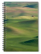 Barn Among The Contours Spiral Notebook