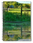 Barn And Fence Spiral Notebook