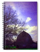 Barn And Oak Digital Painting Spiral Notebook