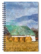 Barn And Silo In West Virginia Spiral Notebook