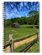 Barn At Hartwood Acres Under Beautiful Sky Spiral Notebook