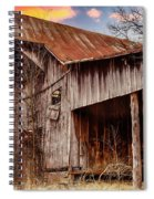 Barn At Sunset Spiral Notebook