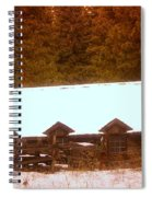 Barn Built By The Ccc At The Tieton Work Center Spiral Notebook