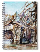 Barn By The Tree Spiral Notebook