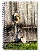 Barn Door And Banjo Mandolin Spiral Notebook
