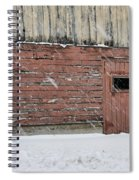Barn Door In Winter Spiral Notebook
