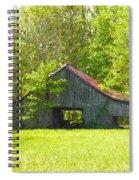 Barn From The Forgotten Farm Spiral Notebook