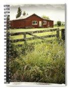 Barn In Field Spiral Notebook
