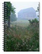 Barn In Fog Spiral Notebook