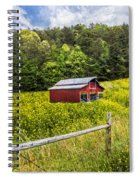 Barn In The Meadow Spiral Notebook