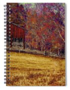 Barn In The Woods-featured In Barns Big And Small Group Spiral Notebook