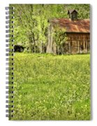 Barn In Wild Turnips Spiral Notebook