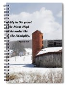 Barn In Winter With Psalm Scripture Spiral Notebook
