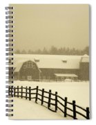 Barn Lake Placid N Y Spiral Notebook