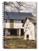 Barn Near Utica Mills Covered Bridge Spiral Notebook