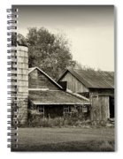 Barn - Old And Run Down Spiral Notebook