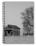Barn On A Hill In Iowa Spiral Notebook